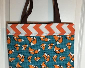 Little Orange Fox Book Bag Tote