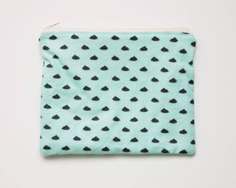 Poop Print Travel Size Zipper Pouch with Lining - Finished Handmade Product
