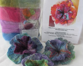 Felting Kits Flowers, Felted Flowers