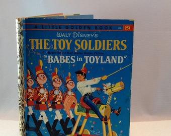 """Disney Toy Soldiers Vintage Book 1961 Disney Children's Book Walt Disney's The Toy Soldiers Vintage Babes in """"Toyland"""" Book Walt Disney Book"""