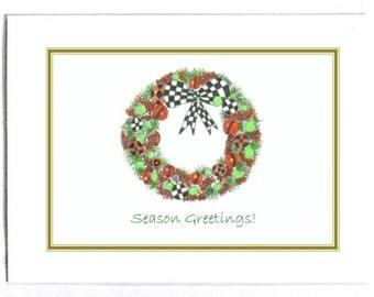 Boxed christmas card | Etsy