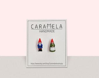 Garden Gnome couple Stud Earrings Garden Gnome earrings Garden Gnome jeaelry Gift idea