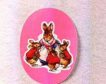Beatrix Potter Peter Rabbit Patch Pink Peter Rabbit Iron On Applique Beatrix Potter Patch