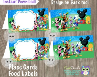 Mickey Mouse Place Cards Mickey Mouse Food Labels Mickey Mouse Birthday Mickey Mouse : mickey tent - memphite.com