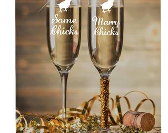 Lesbian Wedding~ Custom Champagne Flutes~ Gift for Lesbian Couple~ Custom Wine glasses~ Mrs. and Mrs. ~Persoalized Champagne~ Lesbian Gift