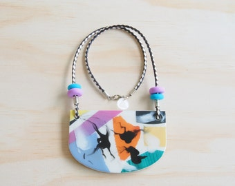 Resin Necklace | Wearable Art | Handmade | Frankie Good Stuff Awards Entry | 'Go Together' - 'Perm Please!'