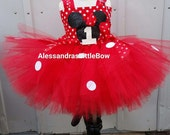 Red Minnie mouse tutu dress Minnie mouse birthday outfit disney trip costume red minnie mouse birthday tutu outfit glitter minnie tutu dress