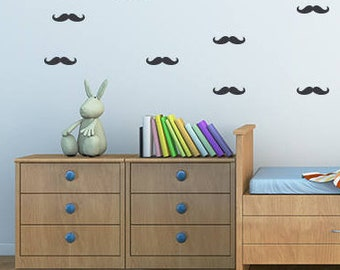 Moustache design wall sticker , vinyl wall decal
