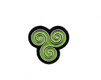 Triple Spiral Celtic Patch Celtic Irish/Scotish iron/Sew on Badge
