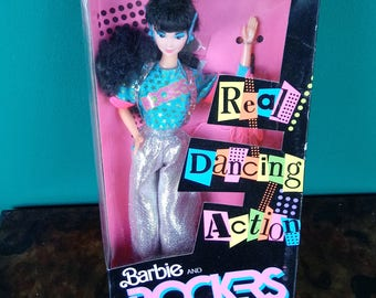 Mattel 1986  Dana Barbie and Rockers- Vintage Mattel Barbie Doll- Real Dancing Moves