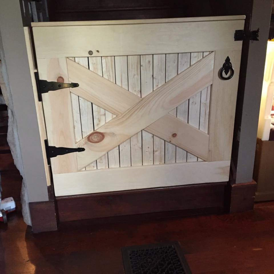 Dutch Door Baby Gate Half Screen Door Grille Gate Style Simple Clean Design Made Of