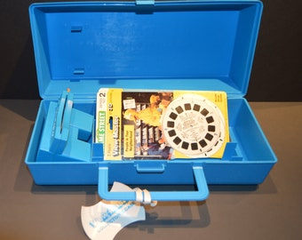 1980s View Master with Case and Sesame Street Reels