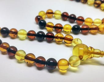EASY - 108 baltic amber mala for meditation (size Ø6)