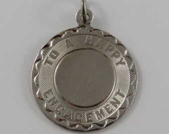 To a Happy Engagement Sterling Silver Vintage Charm For Bracelet