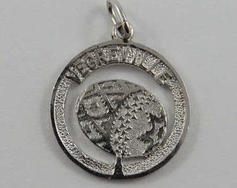 Vegreville Easter Egg Sculpture Sterling Silver Vintage Charm For Bracelet