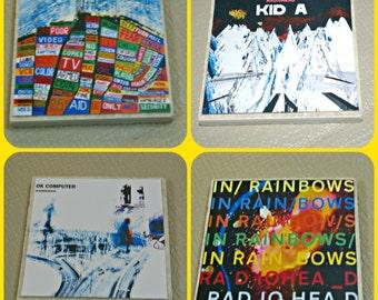 Radiohead - Album Cover Coasters - Music Coasters - Radiohead Albums - Radiohead Music - Radiohead Gifts - Radiohead Coasters - Music Gifts