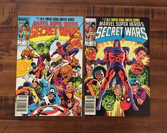 1984 Secret Wars #1 and #2 Comic Books/ Marvel Comics/ VF-FN/ Choose One or Both for a Discounted Price!!!