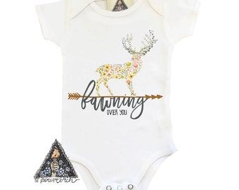 Fawn Onesie®, Fawning Owner You Onesie, Deer Onesie, Boho Deer Onesie, Boho deer bodysuit, boho deer, deer baby gift
