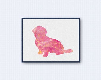 Havanese Dog Watercolor Poster 1
