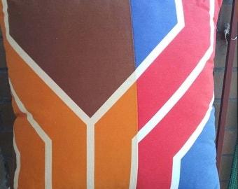 Retro funky vintage cushion