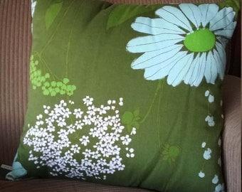Retro floral cushion