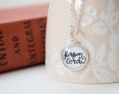 Worship Band Jewelry, Lift Up Your Hearts Latin Quote Charm, Hymn Necklace, Praise Music Jewelry