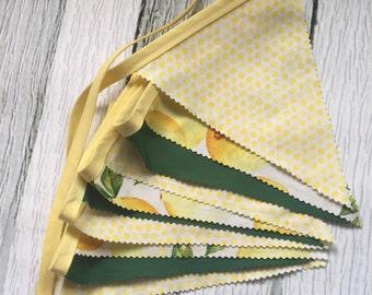 LEMON FLAG BUNTING Banner,Photo Prop,Lemonade Stand,Pendant Lemon Garland,Yellow,Birthday Party Decor,Lemon Garland,Summer Party Decor,Home