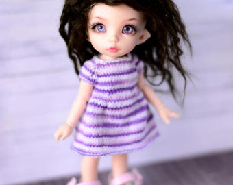 striped dress for pukifee tinysd bjd dolls tunic