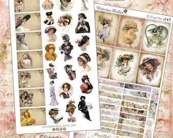 Victorian Ladies Planner Stickers