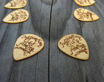 Personalized guitar pick,personalized pick,walnut,Guitar pick,maple,wood guitar picks,guitar pick wood,custom guitar pick,wooden pick