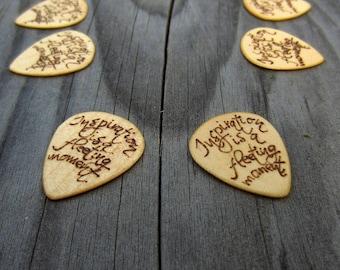 Custom GUITAR PICKS PERSONALIZED/Guitar pick/Personalized guitar pick/Guitar pick custom/Wooden guitar pick/Wooden picks/double sided picks
