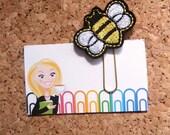Felt BEE Bookmark   Bumble Bee Paper Clip  BEE Refrigerator Magnet   Cute Brooch Pin   Organizer   Calendar   Planner Accessory   94