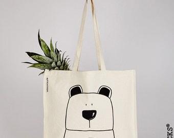 Woolocks® Bear Bag - Large Tote Shopper Bag