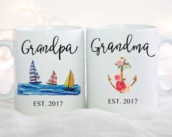 Pregnancy Announcement Mug, Grandparents Pregnancy Reveal, Baby Reveal to Grandparents, Grandma Mug, Grandpa Mug, New Grandma Mug