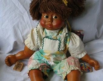 "Cute Vintage Highly Collectible Nabor Kids Doll ""Sissy"" 1988. Hand Crafted with Certificate"
