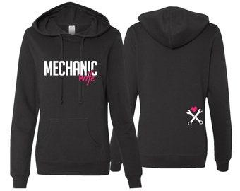 Mechanic Wife Hoodie, Mechanic Wife Sweatshirt, Mechanic Wife, Mechanic Wife Gift, Wife Gift, Mom Gift, Mother's Day Gift
