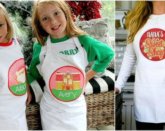 Personalized Holiday Aprons   Great Gift!