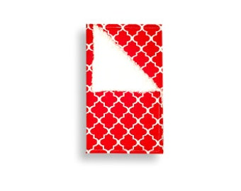 Burp Cloth <<Red & White Clover>> Baby/Toddler/Drool