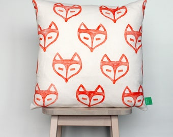 SALE | Cushion cover with orange foxes