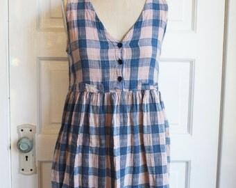 Vintage Grunge Babydoll Dress-Mini