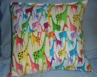Giraffe Jungle Pillow