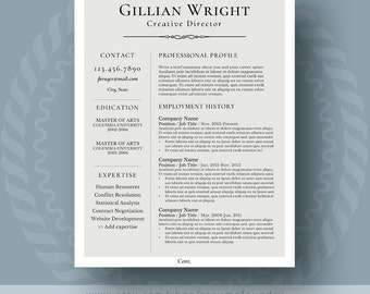 elegant resume template for word 1 3 page resume cover letter reference - Reference Page Resume Template