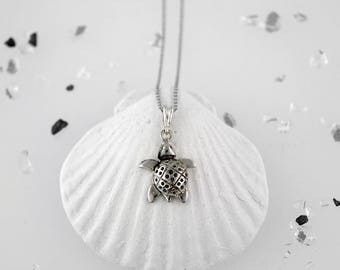 Handmade Sterling Silver Turtle Necklace