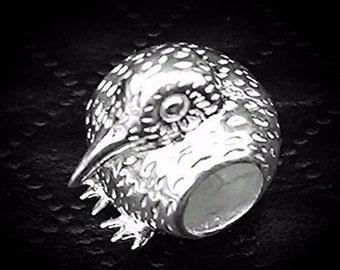 Kiwi Charm bead Sterling Silver