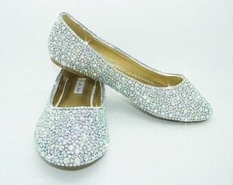 Prom Shoes Bling Flat Wedding Bridal Flower Girl Bridesmaid