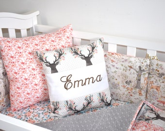 ADD EMBROIDERY to any pillow - personalization, nursery, name pillow