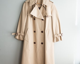 Classic Tan Trench Coat / 1970's Etienne Aigner Jacket / Women's Vintage Clothing