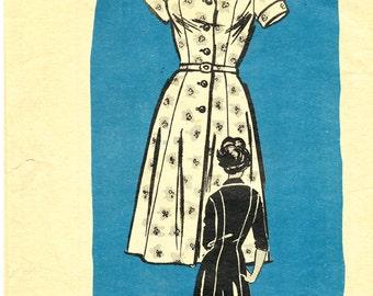 Dress pattern from Workbasket, 4685, ©1964; misses' size 24 1/2