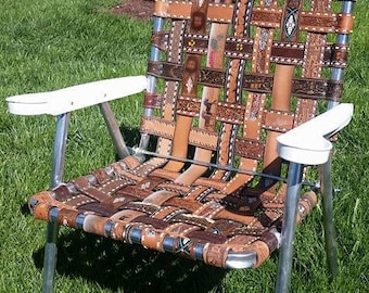 Repurposed Belt Lawn Chair