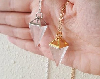 Crystal Pendulum Necklace - Crystal Necklace - Crystal Pendulum - Crystal Point Necklace